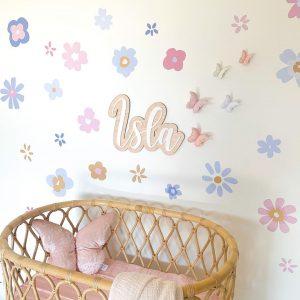 Hamptons Posy nursery wall stickers