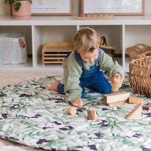 Panda Dreams Playmat toddler playing